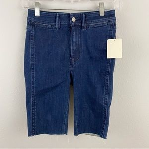 Free People • Denim Bermuda Shorts